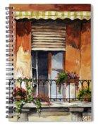 Balcony Of Ancona Spiral Notebook