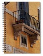 Balcony Piazza Della Madallena In Roma Spiral Notebook