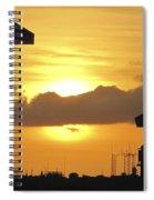 Key West Balcony Sunset Spiral Notebook