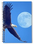 Bald Eagle And Full Moon Spiral Notebook
