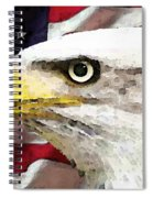 Bald Eagle Art - Old Glory - American Flag Spiral Notebook