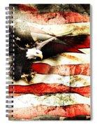 Bald Eagle Bursting Thru Flag Spiral Notebook