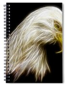 Bald Eagle Fractal Spiral Notebook