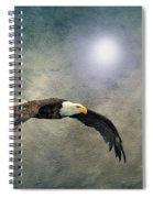 Bald Eagle Textured Art Spiral Notebook