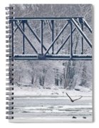 Bald Eagle With Fish By Railroad Bridge 6639 Spiral Notebook