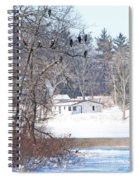 Bald Eagles In Tree In Grand Rapids Ohio 3996 Spiral Notebook