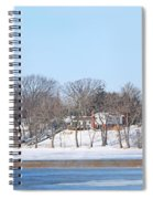 Bald Eagles In Tree In Grand Rapids Ohio Panorama Spiral Notebook