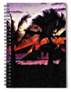 Bali Sunset Impasto Paint Version Spiral Notebook