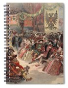 Ball At The Court, Illustration Spiral Notebook