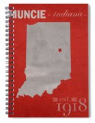 Ball State University Cardinals Muncie Indiana College Town State Map Poster Series No 017 Spiral Notebook