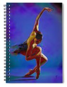 Ballerina On Point Spiral Notebook