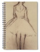 Ballerina Viewed From The Back  Spiral Notebook