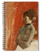 Ballet Dancer With Arms Crossed Spiral Notebook