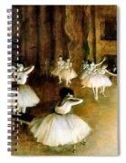 Ballet Rehearsal On Stage Spiral Notebook