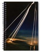 Ballistic Missile Paths Spiral Notebook