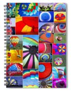 Balloon Fantasy Collage Spiral Notebook
