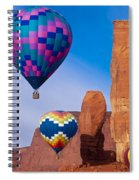 Balloon Festival In Monument Valley Spiral Notebook