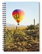 Balloon Ride Over The Desert Spiral Notebook