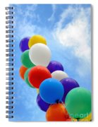 Balloons Against A Cloudy Sky Spiral Notebook