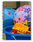 Balls And Toys In Buckets Spiral Notebook