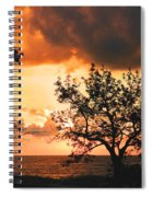 Baltic Sunset In The South Of Sweden Spiral Notebook