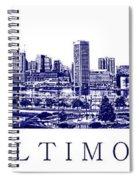 Baltimore Blueprint Spiral Notebook