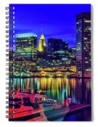 Baltimore Harbor By Night, Baltimore Spiral Notebook