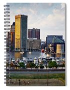 Baltimore Harbor Skyline Panorama Spiral Notebook