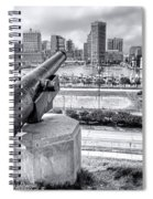 Baltimore Inner Harbor Skyline Spiral Notebook