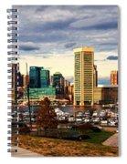 Baltimore Inner Harbor Skyline Panorama Spiral Notebook