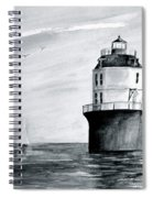 Baltimore Lighthouse In Gray  Spiral Notebook