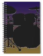 Baltimore Ravens Drum Set Spiral Notebook