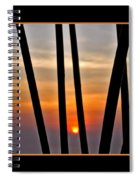 Bamboo Sunset - Black Frame Spiral Notebook