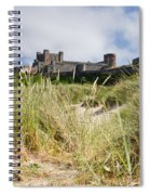 Bamburgh Castle From The Dunes Spiral Notebook