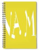 Banana Manna - Yellow - Color - Letter Art Spiral Notebook