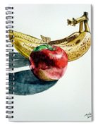 Bananas And An Apple Spiral Notebook
