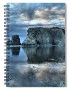 Bandon Beach Sunset Reflections Spiral Notebook