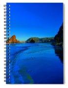 Bandon Blue And Gold Spiral Notebook