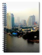 Bangkok In Early Morning Light Spiral Notebook
