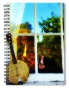 Banjo Mandolin In The Window Spiral Notebook