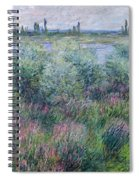 Banks Of The Seine At Vetheuil Spiral Notebook