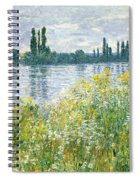 Banks Of The Seine Vetheuil Spiral Notebook