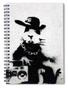 Banksy Boombox  Spiral Notebook