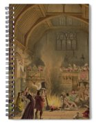 Banquet In The Baronial Hall, Penshurst Spiral Notebook