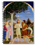 Baptism Of Christ - Oil On Canvas Spiral Notebook