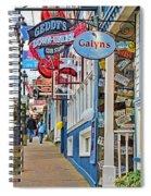 Bar Harbor Sidewalk Spiral Notebook