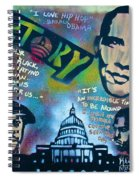 Barack And Common And Kanye Spiral Notebook