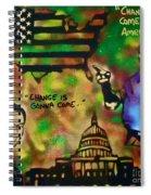 Barack And Sam Cooke Spiral Notebook