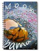 Barack Obama Moon Spiral Notebook
