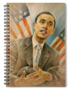 Barack Obama Taking It Easy Spiral Notebook